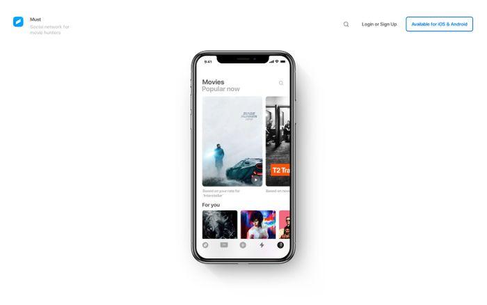 Screenshot of Must website
