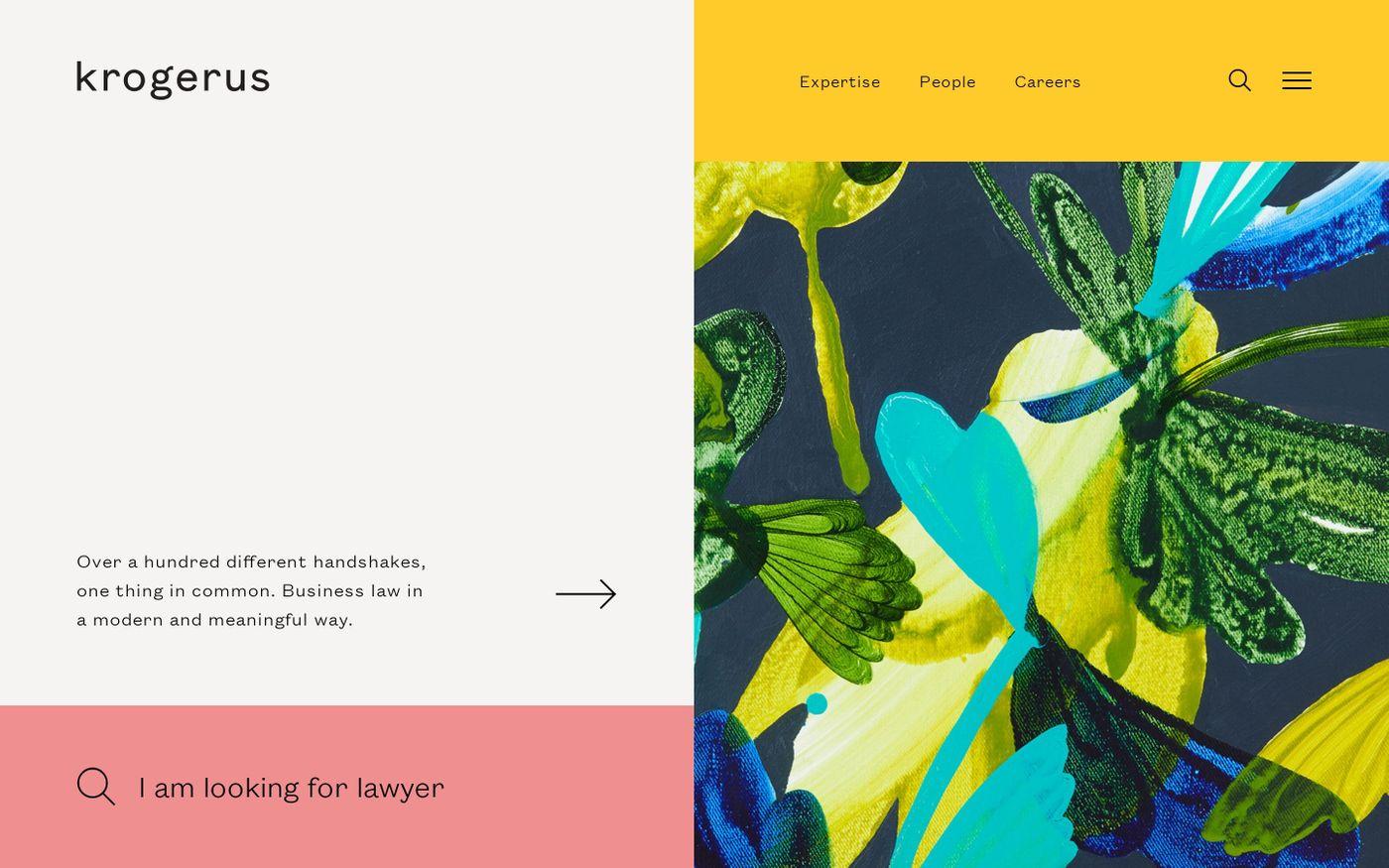 Screenshot of Krogerus website