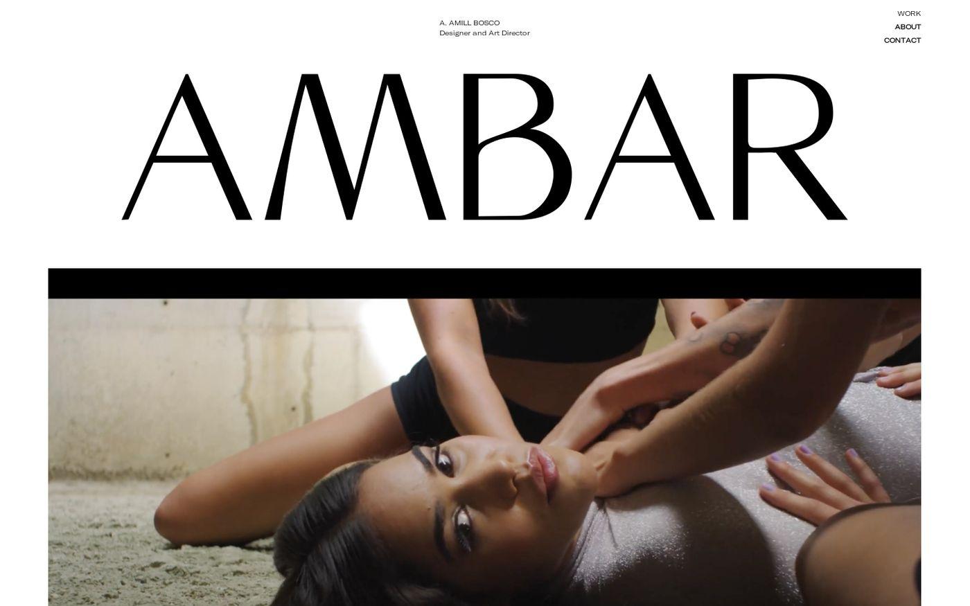Screenshot of Ambar Amill Bosco website