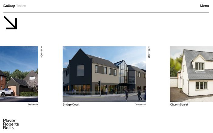 Screenshot of PRB Architects website