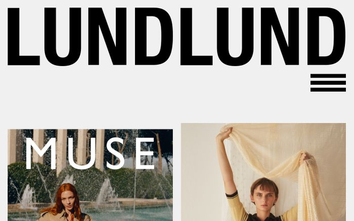 Screenshot of Lundlund website