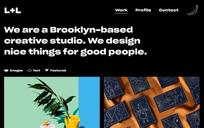 Screenshot of L+L website
