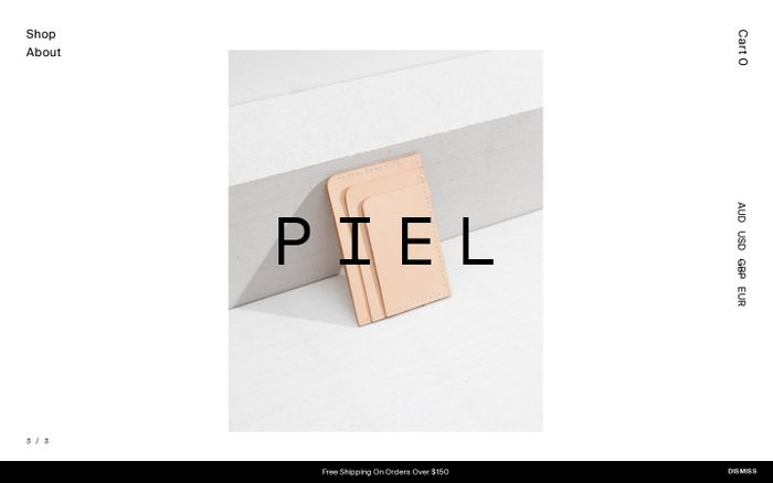 Screenshot of Piel – Minimal Leather Goods