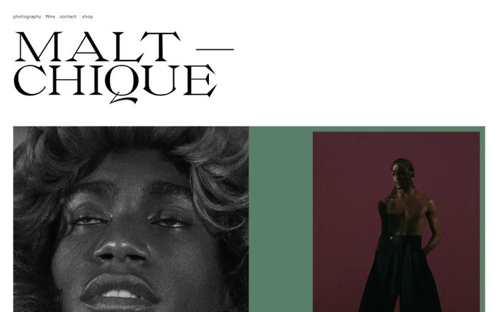 Screenshot of Rodrigo Maltchique website