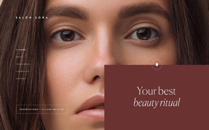 Screenshot of Beauty studio – Salón Soňa