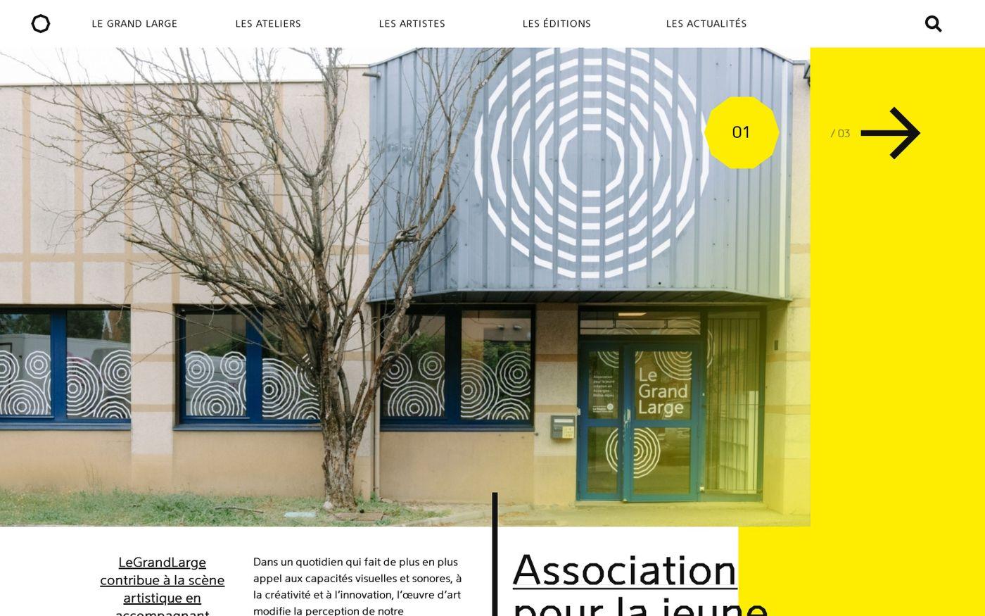 Screenshot of Le grand large website
