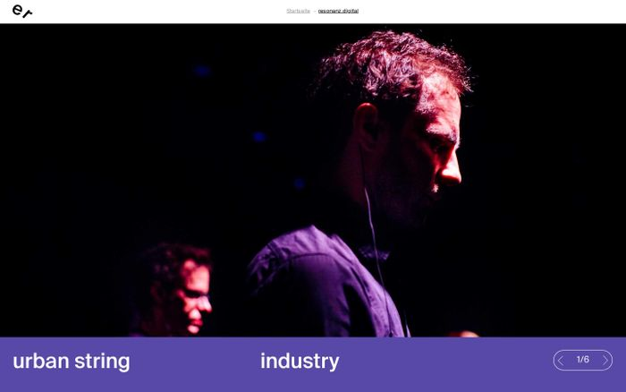 Screenshot of resonanz.digital – ensemble resonanz