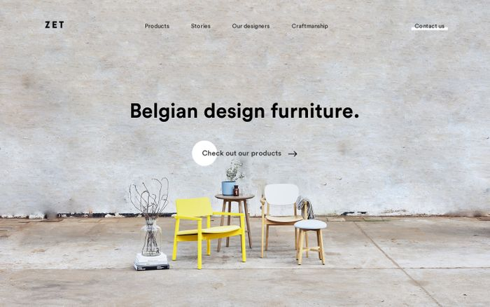 Screenshot of A wide range of Belgian wooden design furniture from ZET