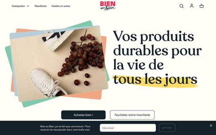 Screenshot of Bien ou Bien website