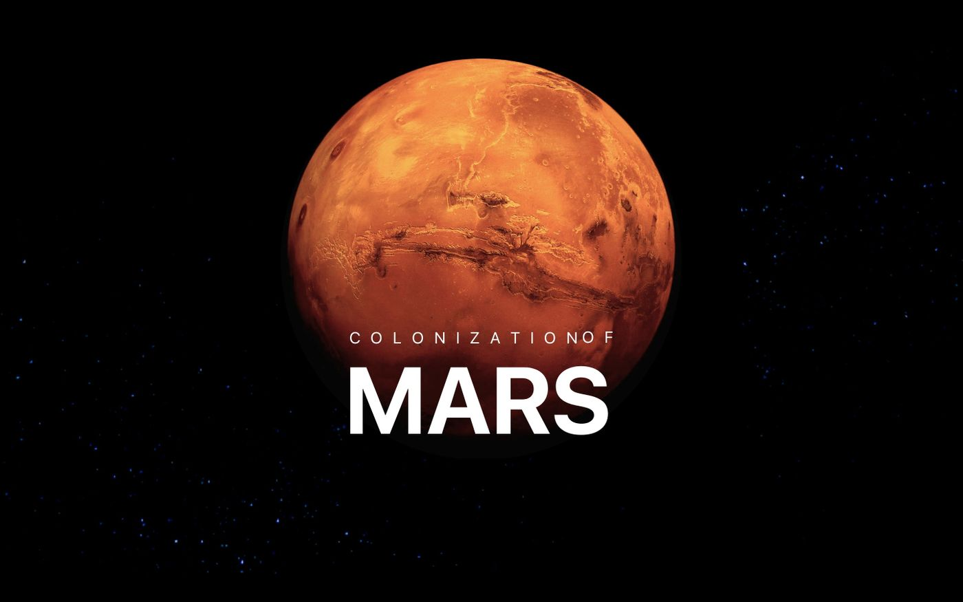 Screenshot of Colonization of Mars website