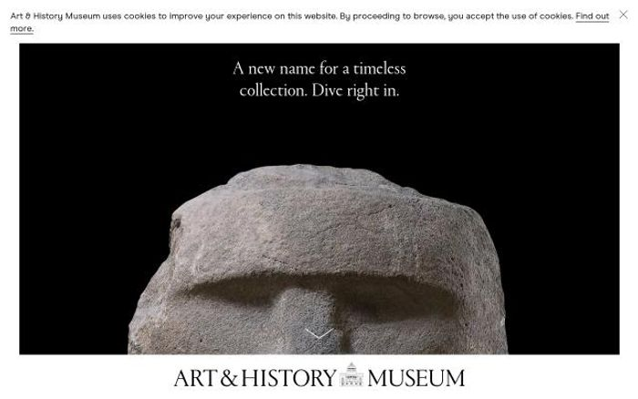 Screenshot of Artandhistory website