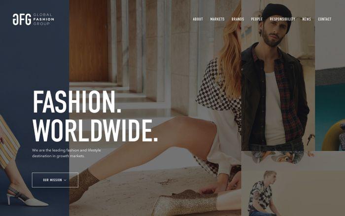 Screenshot of  Global Fashion Group