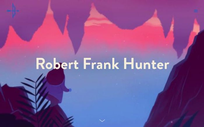 Screenshot of Robertfrankhunter website