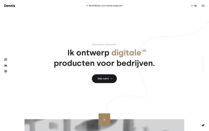 Screenshot of Freelance UI/UX Designer - Dennis Snellenberg - Rotterdam