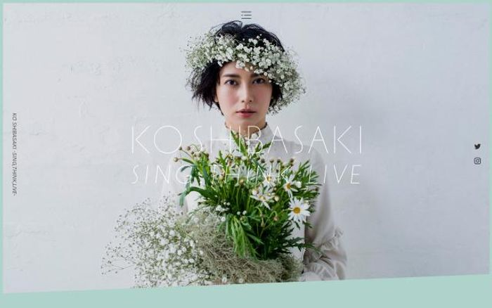 Screenshot of Koshibasaki website