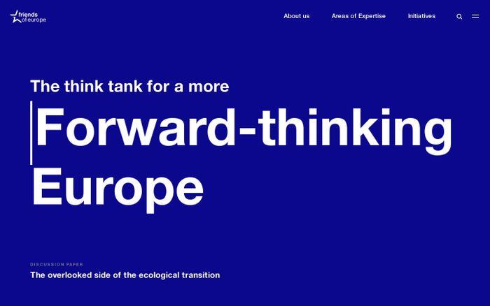 Screenshot of Homepage - Friends of Europe website