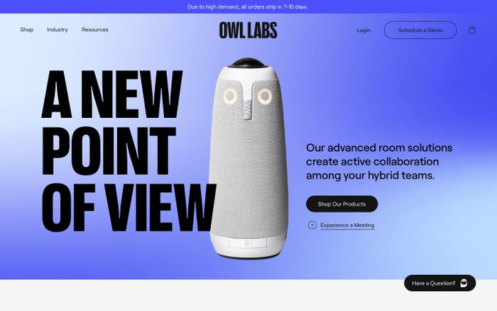 Screenshot of Owl Labs