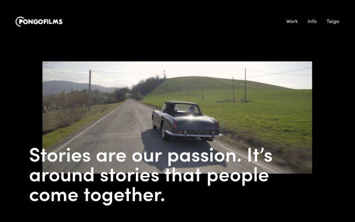 Screenshot of Pongofilms - Video Production