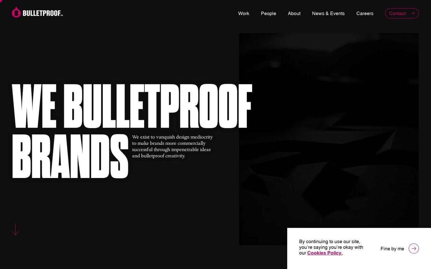 Screenshot of Bulletproof website