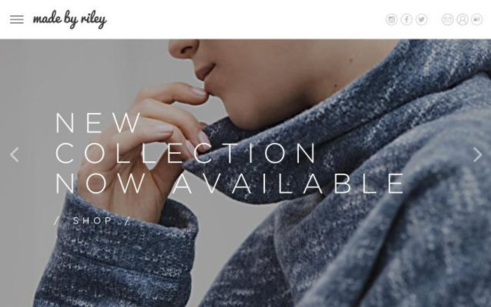 Screenshot of Madebyriley website