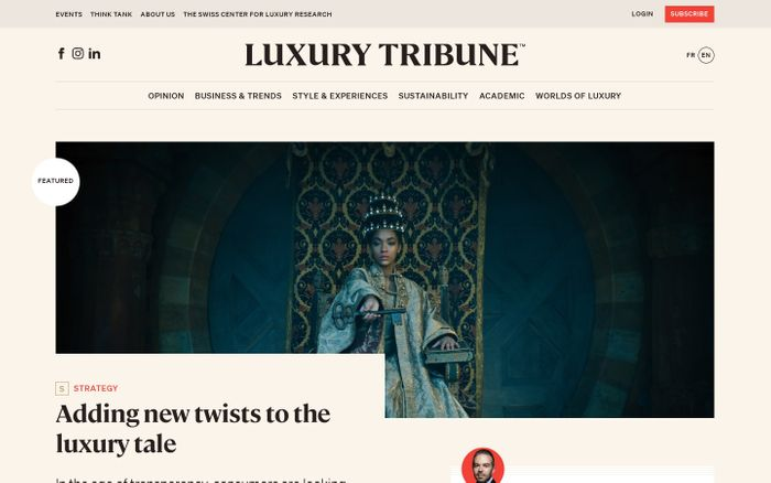Screenshot of Luxury Tribune