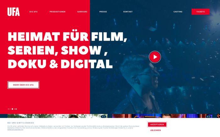 Screenshot of Startseite – UFA