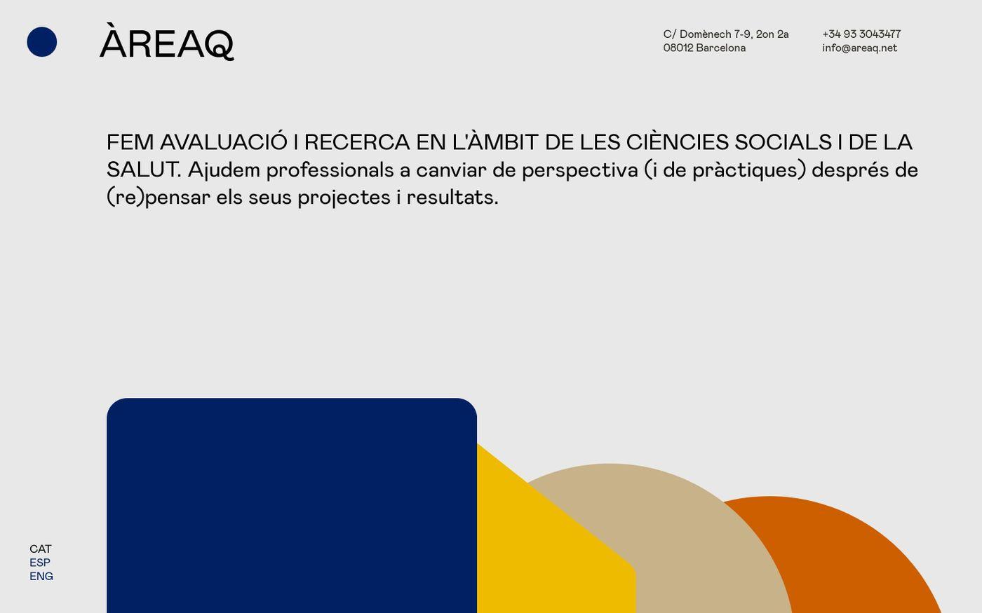 Screenshot of ÀREAQ website