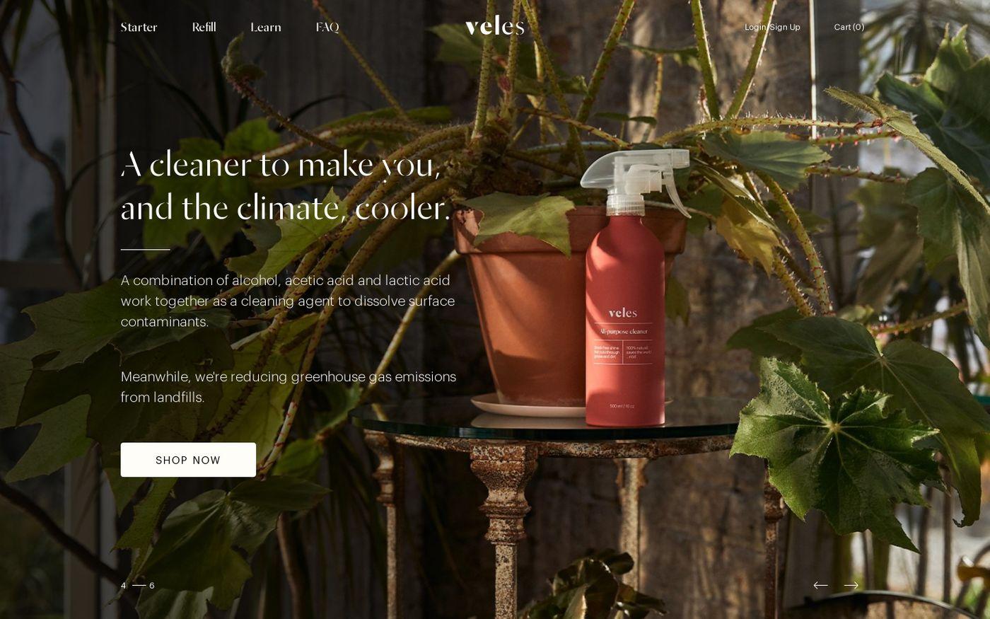 Screenshot of Veles website