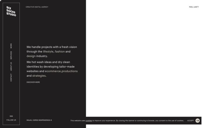 Screenshot of Six Socks Studio website