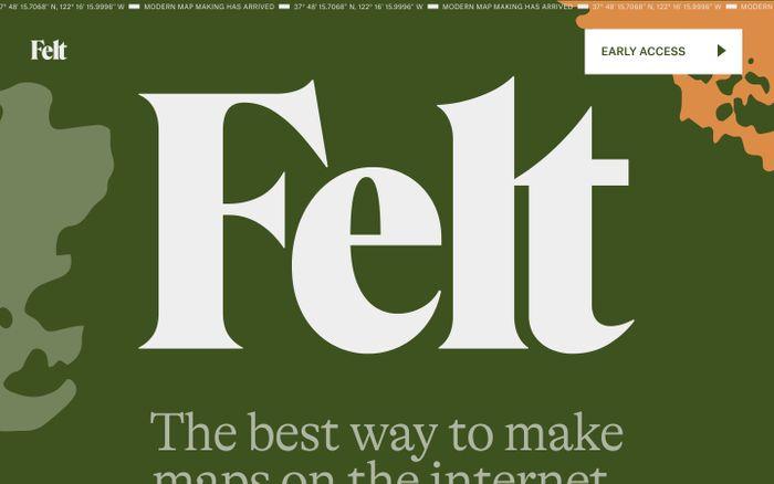 Screenshot of Felt website