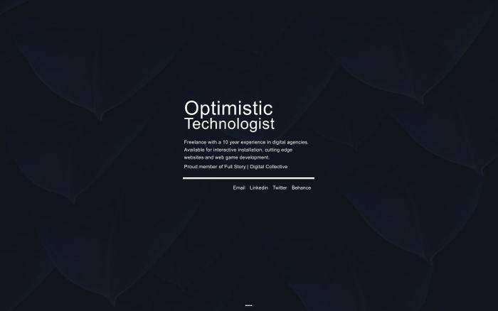 Screenshot of Optimistic Technologist