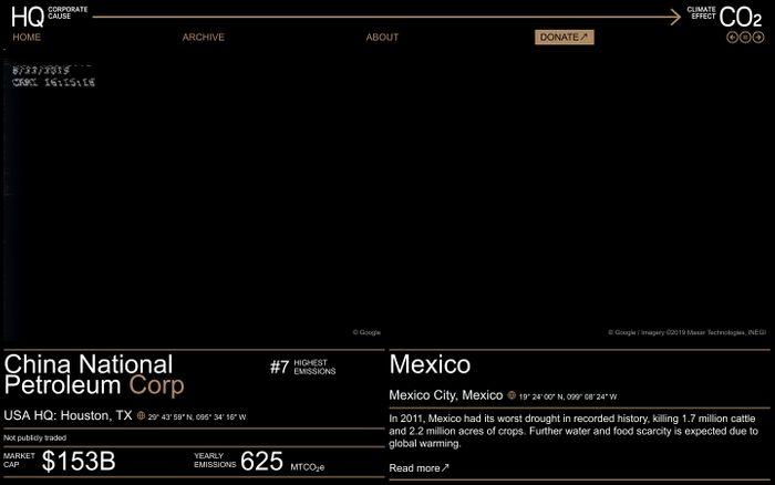 Screenshot of HQ→CO2