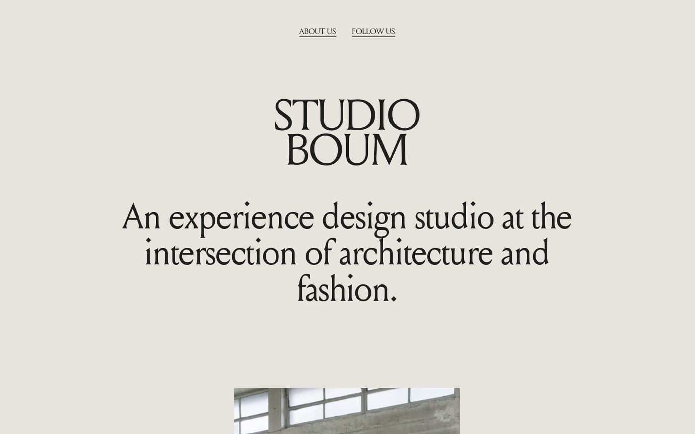 Screenshot of Studio Boum website
