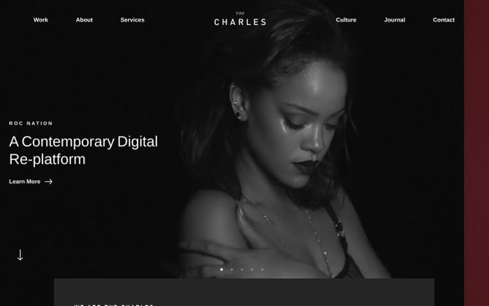 Screenshot of The Charles NYC website