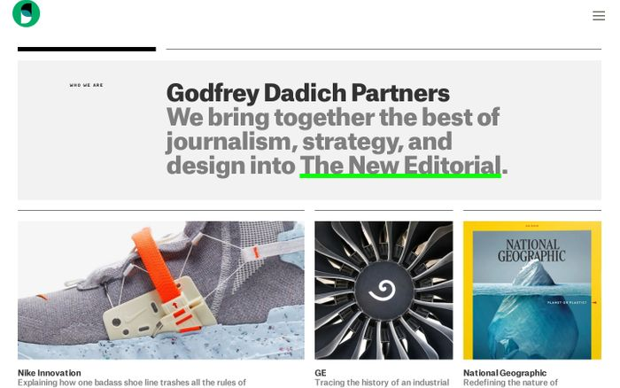 Screenshot of Godfrey Dadich Partners website
