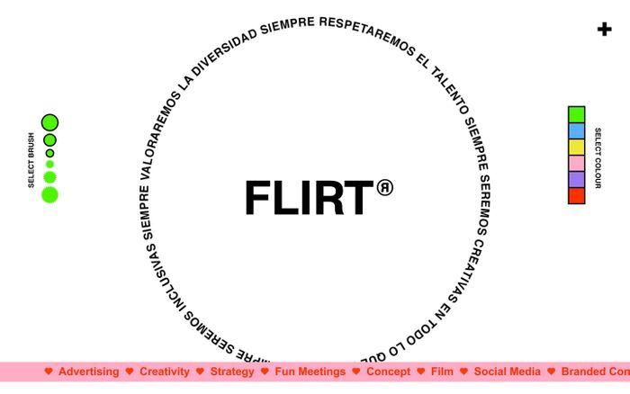 Screenshot of FLIRT home