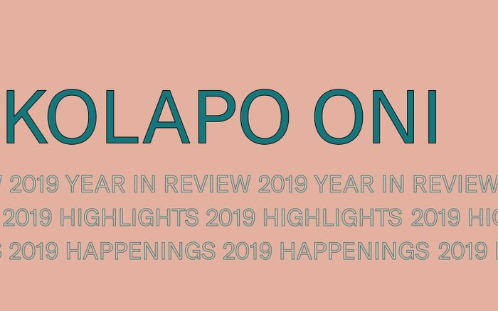 Screenshot of Kolapo Oni - Year In Review (2019)