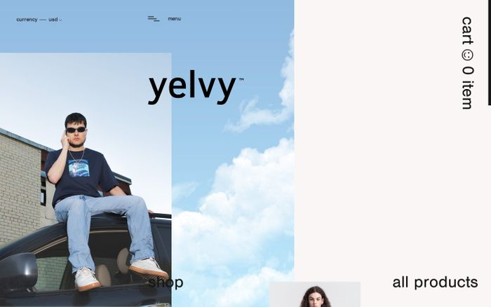 Screenshot of yelvy™ – online store