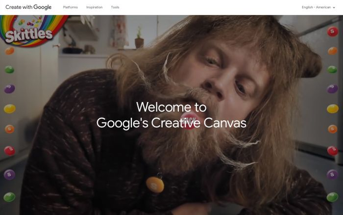 Screenshot of Welcome to Google's Creative Canvas - Create with Google