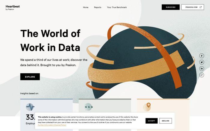Screenshot of Employee Engagement: The World of Work in Data