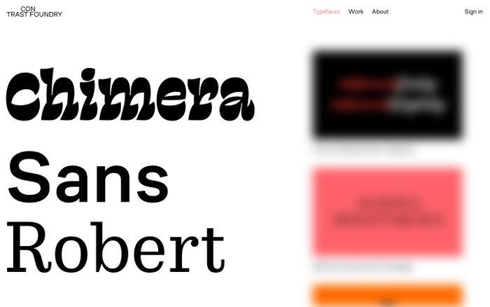 Screenshot of Contrast Foundry