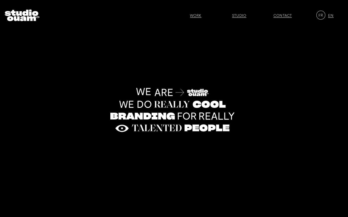 Screenshot of Studio Ouam website