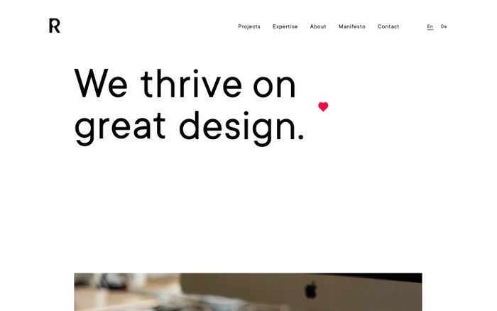 Screenshot of Reach Partners AG — The Branding & Digital Agency in Zurich