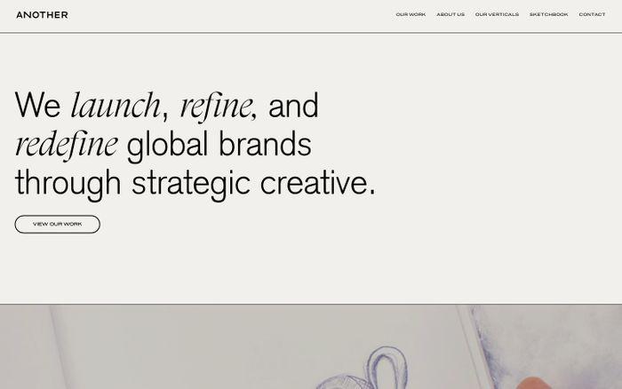 Screenshot of Another website