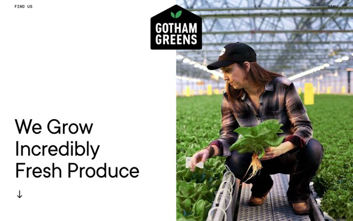 Screenshot of Gotham Greens website