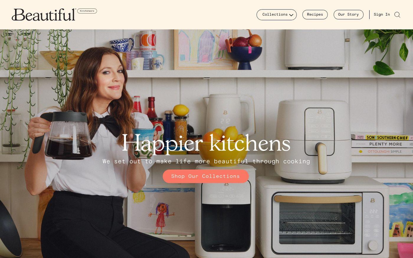 Screenshot of Beautiful website