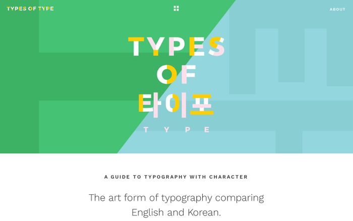 Screenshot of Types of Type