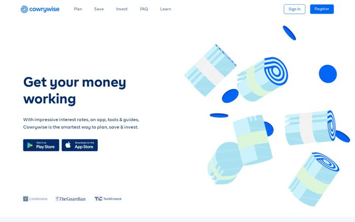 Screenshot of The Smart Way to Plan, Save and Invest Online - Cowrywise