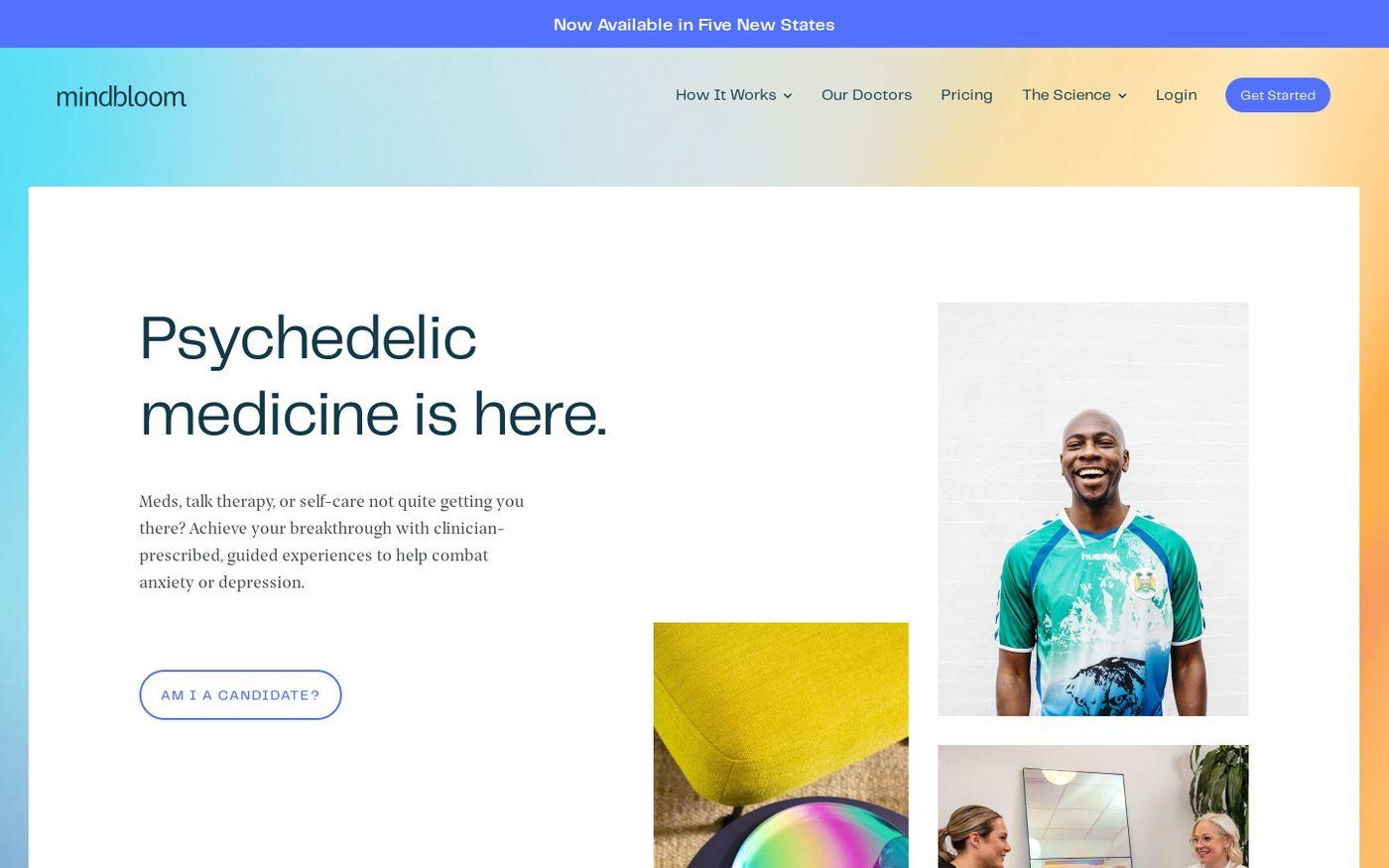Screenshot of Mindbloom website