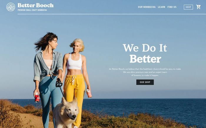 Screenshot of Better Booch – Premium Small Craft Kombucha Brewed in Los Angeles